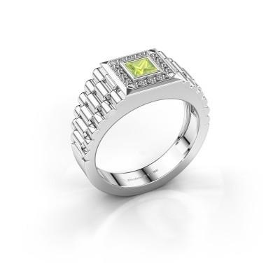 Foto van Rolex stijl ring Zilan 950 platina peridoot 4 mm