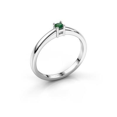 Foto van Promise ring Eline 1 585 witgoud smaragd 3 mm