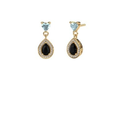 Picture of Drop earrings Susannah 750 gold black diamond 1.69 crt