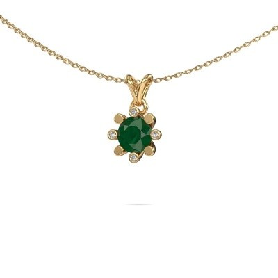 Picture of Pendant Carola 2 375 gold emerald 6 mm