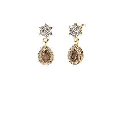 Bild von Ohrhänger Era 375 Gold Braun Diamant 1.43 crt