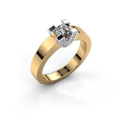 Verlovingsring Jasmijn 1 585 goud diamant 0.38 crt