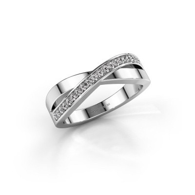 Foto van Ring Kaley 585 witgoud diamant 0.143 crt
