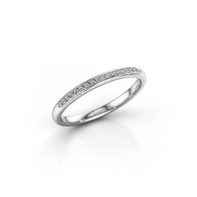 Foto van Aanschuifring SR20B2H 585 witgoud diamant 0.08 crt