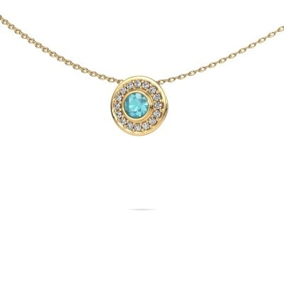 Picture of Necklace Gretta 585 gold blue topaz 4 mm
