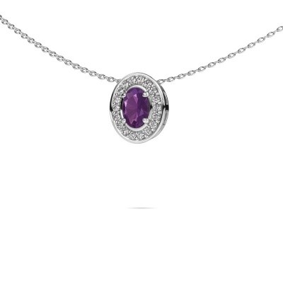 Picture of Necklace Madelon 925 silver amethyst 6x4 mm