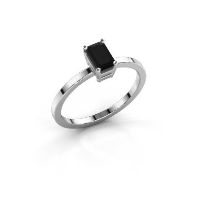Foto van Verlovingsring Denita 1 585 witgoud zwarte diamant 0.84 crt