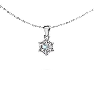 Picture of Necklace Chantal 585 white gold aquamarine 2.4 mm