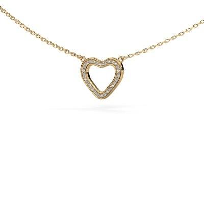 Picture of Pendant Heart 3 585 gold zirconia 0.8 mm