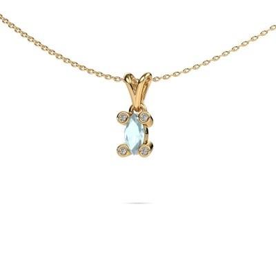 Picture of Necklace Cornelia Marquis 585 gold aquamarine 7x3 mm