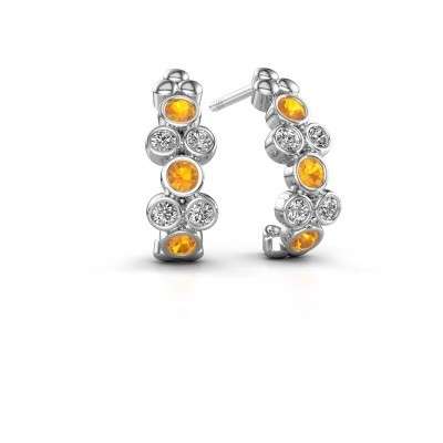 Picture of Earrings Kayleigh 925 silver citrin 2.4 mm