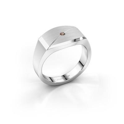 Foto van Heren ring Joe 5 925 zilver rookkwarts 2 mm