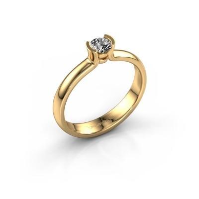 Foto van Verlovingsring Ophelia 585 goud zirkonia 4 mm