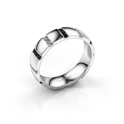 Huwelijksring Juul 925 zilver zwarte diamant ±5x1.8 mm