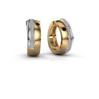Bild von Creole Shakita 585 Gold Schwarz Diamant 0.222 crt