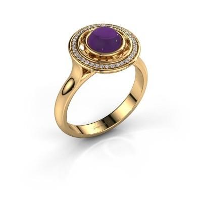 Foto van Ring Salima 585 goud amethist 6 mm