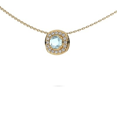 Picture of Necklace Carolina 585 gold aquamarine 5 mm