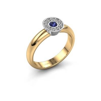 Foto van Ring Fiene 585 goud saffier 2.8 mm