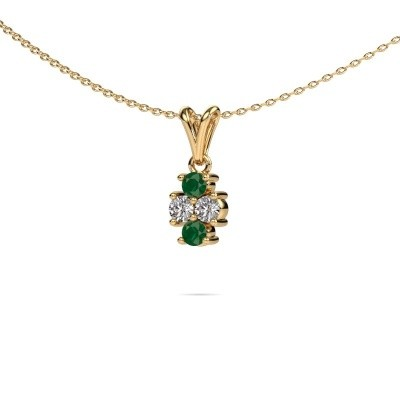 Picture of Necklace Richelle 375 gold emerald 3 mm
