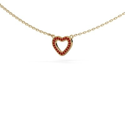 Picture of Pendant Heart 4 585 gold ruby 0.8 mm