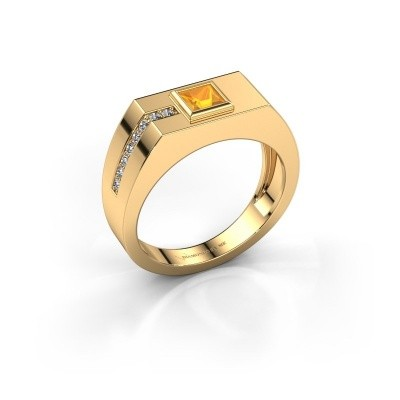 Foto van Heren ring Robertus 1 585 goud citrien 4 mm