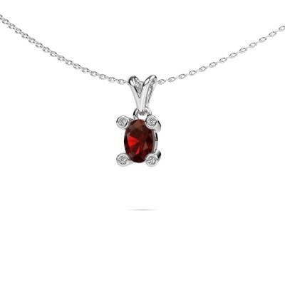 Picture of Necklace Cornelia Oval 950 platinum garnet 7x5 mm