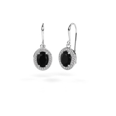 Picture of Drop earrings Latesha 375 white gold black diamond 3.000 crt