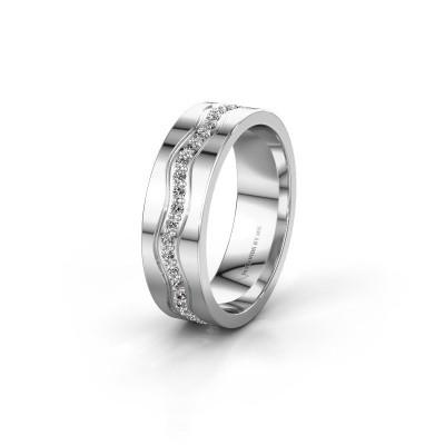 Trouwring WH0803L16AP 585 witgoud diamant 0.44 crt ±6x1.7 mm