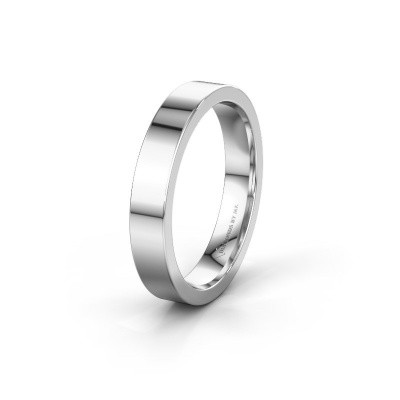 Trouwring WH0100M14BP 585 witgoud ±4x2 mm