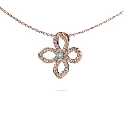 Picture of Necklace Chelsea 375 rose gold blue topaz 2 mm