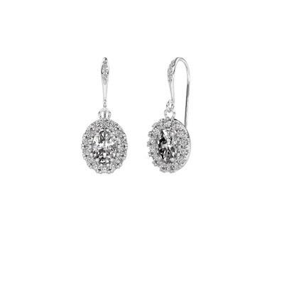 Picture of Drop earrings Jorinda 2 950 platinum zirconia 7x5 mm
