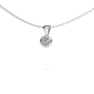 Ketting Lieke 585 witgoud diamant 0.25 crt