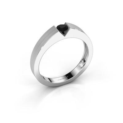 Foto van Verlovingsring Lizzy 1 585 witgoud zwarte diamant 0.24 crt