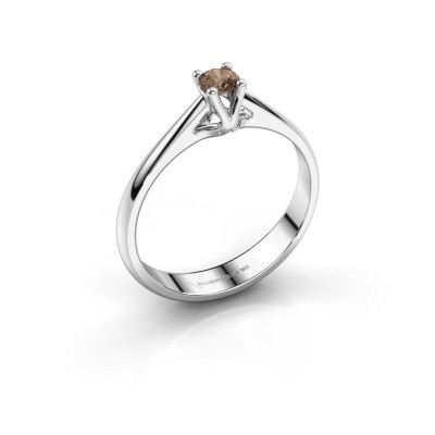 Foto van Verlovingsring Janna 1 585 witgoud bruine diamant 0.15 crt