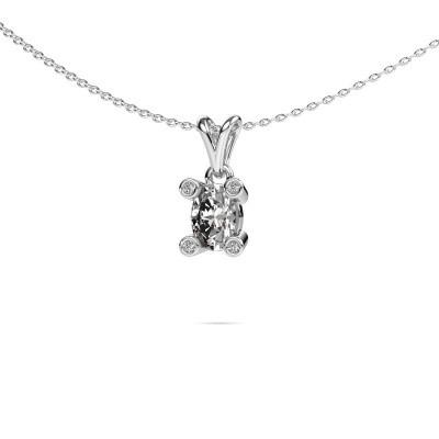 Foto van Ketting Cornelia Oval 950 platina diamant 0.82 crt