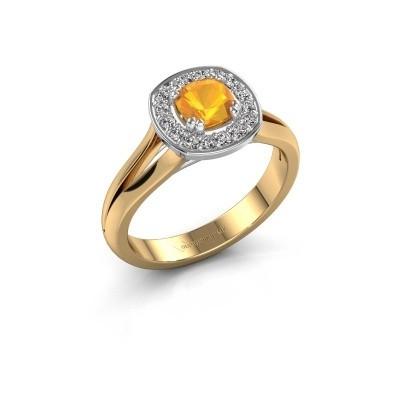 Foto van Ring Carolina 1 585 goud citrien 5 mm