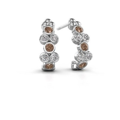 Picture of Earrings Kayleigh 925 silver brown diamond 0.57 crt