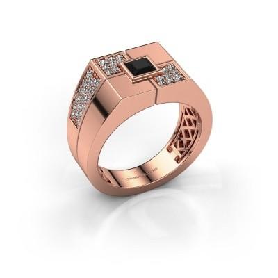 Foto van Heren ring Rogier 585 rosé goud zwarte diamant 1.002 crt