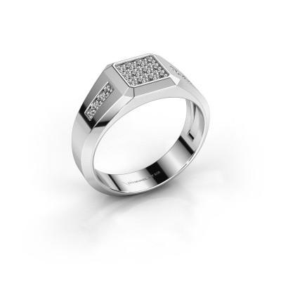 Foto van Pinkring Bas 925 zilver zirkonia 1.7 mm