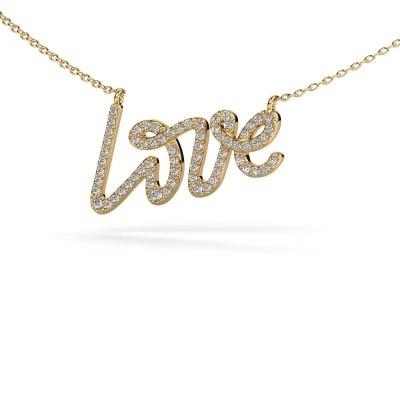Picture of Pendant Love 585 gold zirconia 1 mm