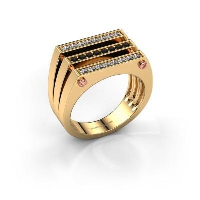 Foto van Heren ring Jauke 585 goud zwarte diamant 0.512 crt