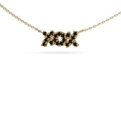 Picture of Necklace XoX 585 gold black diamond 0.342 crt