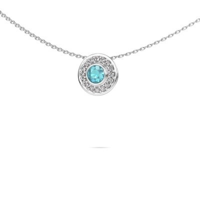 Picture of Necklace Gretta 925 silver blue topaz 4 mm