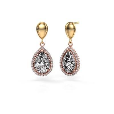 Bild von Ohrhänger Cheree 1 585 Roségold Diamant 6.42 crt