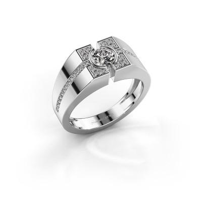 Foto van Herenring Thijmen 950 platina diamant 0.755 crt
