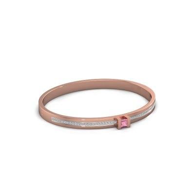 Foto van Armband Desire 585 rosé goud roze saffier 4 mm