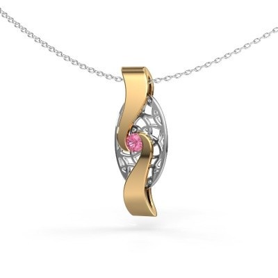 Picture of Pendant Darleen 585 gold pink sapphire 3 mm