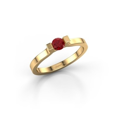 Foto van Verlovingsring Jodee 750 goud robijn 4 mm