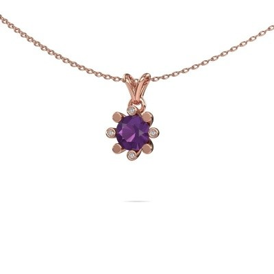 Picture of Pendant Carola 2 585 rose gold amethyst 6 mm