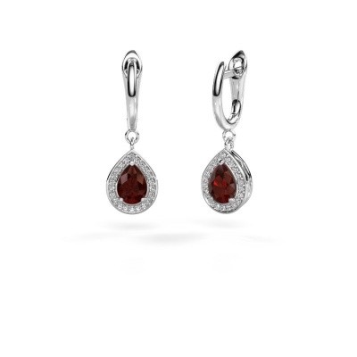 Picture of Drop earrings Ginger 1 950 platinum garnet 7x5 mm